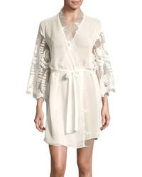 Rya Collection - Sheer Lace Detailed Robe - Lyst