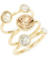 Ted Baker - Jackie Jewel Stacked Rings - Lyst