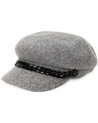 Steve Madden - Chained Wool Baker Boy Hat - Lyst
