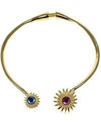 Kenneth Jay Lane - Faceted Stone Collar Necklace - Lyst