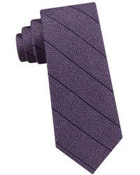 Calvin Klein - Stripe Silk Tie - Lyst