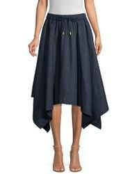 0d1aa7ba5 Donna Karan Pull-on Cargo Skirt in Blue - Lyst