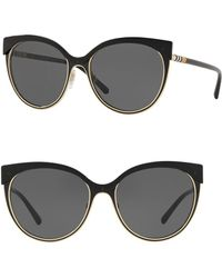 fe045048e9 Burberry - 55mm Phantos Cat Eye Sunglasses - Lyst
