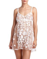 Rya Collection - Embroidered Floral Chemise - Lyst