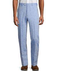 Tallia Orange Classic Chambray Trousers - Blue