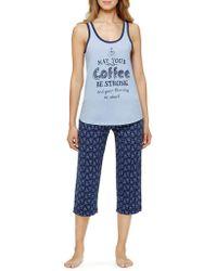 Sleeptease   Plus Tank And Capri Pajama Set   Lyst