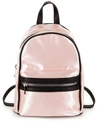 Lord & Taylor - Classic Satin Backpack - Lyst