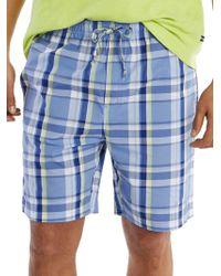 Nautica - Plaid Cotton Shorts - Lyst