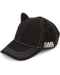 Karl Lagerfeld - Cat Ears Baseball Hat - Lyst