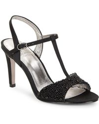 Adrianna Papell - Alia Embellished T-strap Sandals - Lyst