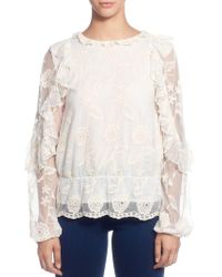 Catherine Malandrino - Ilusion Floral-lace Blouse - Lyst