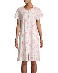 Miss Elaine Floral Printed Robe - Pink
