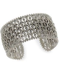 Lucky Brand Dark Magic Pave Cuff Bracelet - Metallic