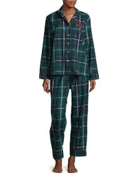 Lord & Taylor   Printed Cotton Pajamas   Lyst