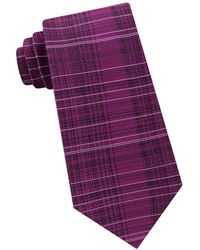 CALVIN KLEIN 205W39NYC - Hi-lo Plaid Silk Tie - Lyst