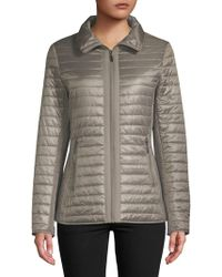 Gallery - Quilted Hooded Coat - Lyst