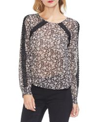 Two By Vince Camuto - Gilded Rose Crocheted Floral Top - Lyst