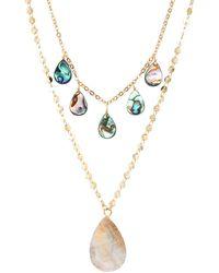 Panacea Goldtone & Crystal Layered Necklace - Metallic