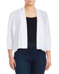 CALVIN KLEIN 205W39NYC - Plus Three Quarter Sleeve Shawl Sweater - Lyst