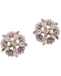 Nina - Modena Opal Floral Stud Earring - Lyst