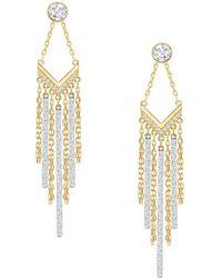 Swarovski - Crystal And Goldtone Chandelier Earrings - Lyst