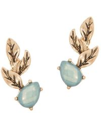 Lonna & Lilly - Leafy Faceted Stone Crawler Earrings - Lyst