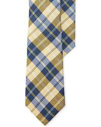 Lauren by Ralph Lauren   Plaid Linen-cotton Tie   Lyst