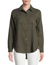 Lord & Taylor - Plus Tiffany Linen Button-down Shirt - Lyst