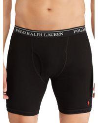 Polo Ralph Lauren 3-pack Classic-fit Cotton Long Leg Boxer Briefs - Black
