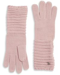 Lauren by Ralph Lauren - Long Knitted Gloves - Lyst