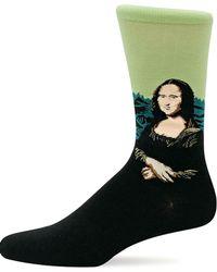 Hot Sox Mona Lisa Knit Socks - Black