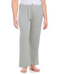 Tommy Hilfiger - Plus Dotted Knit Pants - Lyst