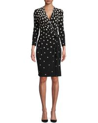 Anne Klein - Geometric Tumble Wrap Dress - Lyst