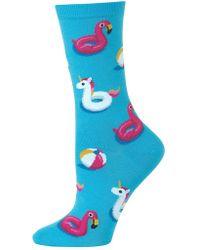 Hot Sox Pool Float Fashion Crew Socks
