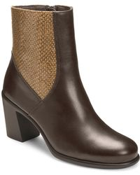 Aerosoles - Hole Of Fame Leather Booties - Lyst