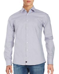 Strellson - Patterned Cotton Sportshirt And Pocket Square Set - Lyst
