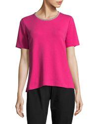 Joan Vass - Short Sleeve Pyjama Top - Lyst