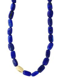 Effy Lapis And 14k Yellow Gold Necklace - Metallic