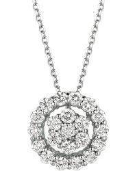 Morris & David - Diamond And 14k White Gold Openwork Pendant Necklace - Lyst