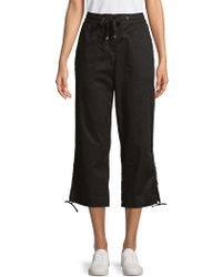 Jones New York - Drawstring Tied-hem Crop Trousers - Lyst