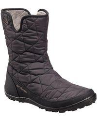 Columbia Mix Slip Ii Omni Heat Faux Fur Boots - Brown