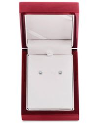 Lord & Taylor - Diamond And 14k White Gold Stud Earrings - Lyst