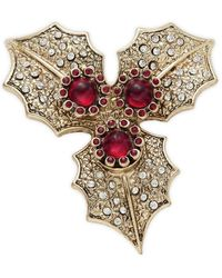 Lord + Taylor Embellished Goldtone Pin - Metallic