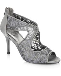 Adrianna Papell - Arissa Lace And Satin Dress Court Shoes - Lyst