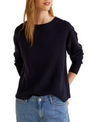 Mango - Ribbed Vented Sweater - Lyst