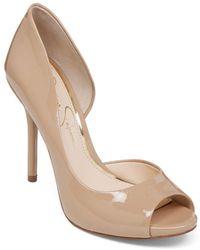 Jessica Simpson - Bibi Peep-toe Court Shoes - Lyst