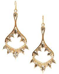 Vince Camuto Crystal Drop Earrings - Metallic