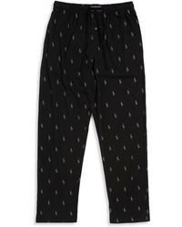 Polo Ralph Lauren Elasticized Cotton Trousers - Black