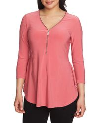 Chaus - Graceful Blooms V-neck Top - Lyst