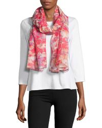 Lord & Taylor - Abstract Floral Printed Scarf - Lyst